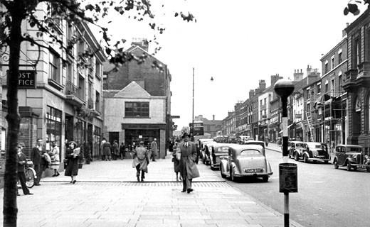 Newcastle under Lyme, Ironmarket 1951 : Stock Photo