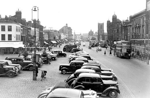 Stockton-on-Tees, High Street 1951 : Stock Photo