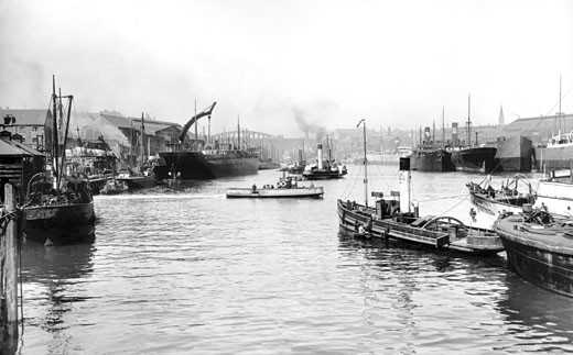 Sunderland, Shipyards on the Wear c1900 : Stock Photo