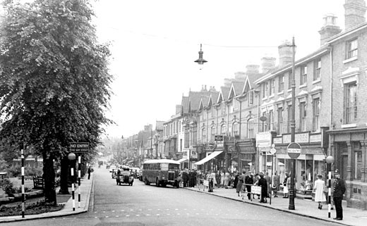 Sutton Coldfield, the Parade 1949 : Stock Photo