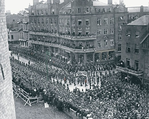 Windsor, the funeral of King Edward VII 1910 : Stock Photo