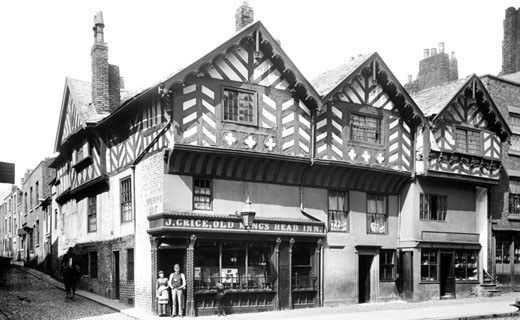 Chester, Bridge Street, the Old King's Head 1888 : Stock Photo