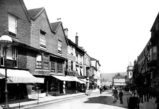 Lewes, Old Houses 1890 : Stock Photo