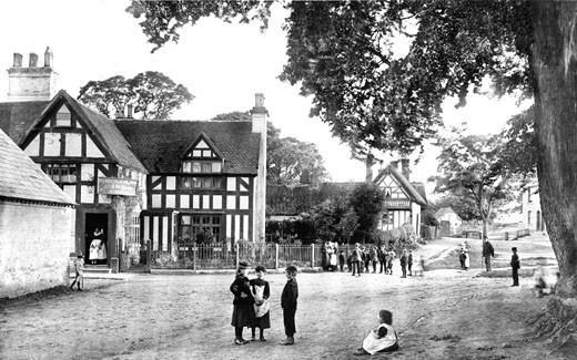 Whitnash, the Village 1892 : Stock Photo