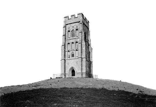 Glastonbury, St Michael's Tower 1896 : Stock Photo