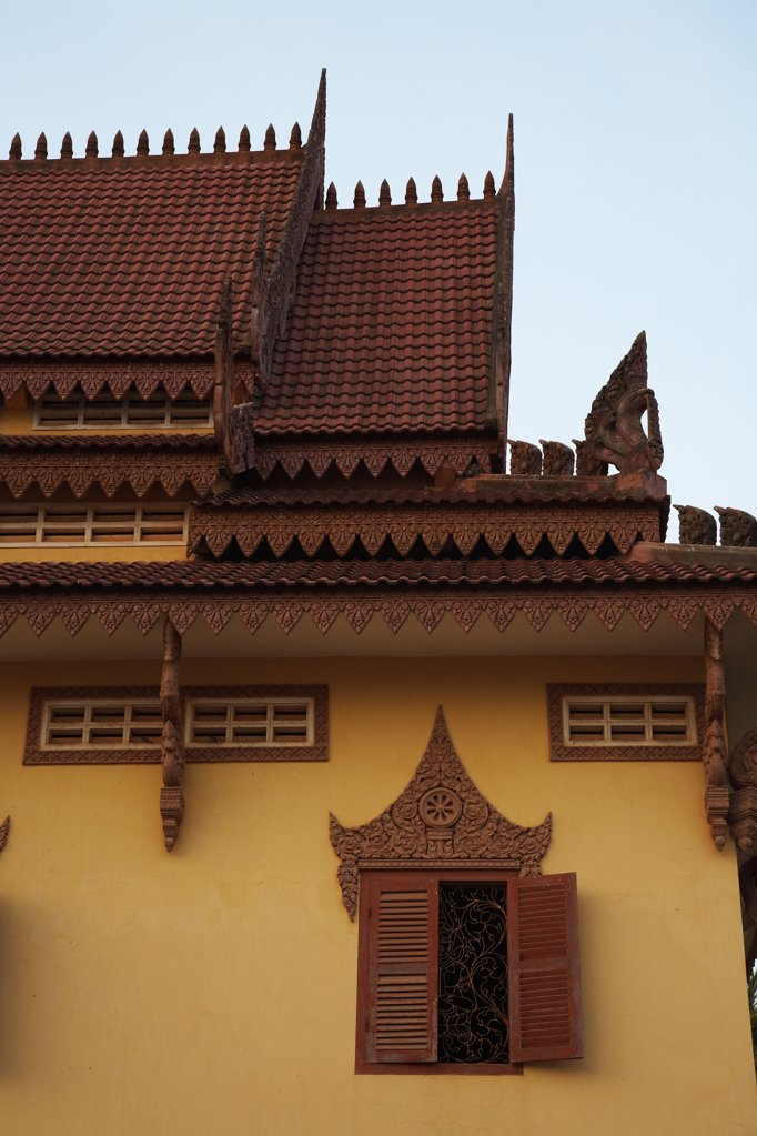Stock Photo: 1783-10377 Ornate buildings at Wat Bo Temple, Siem Reap, Cambodia.