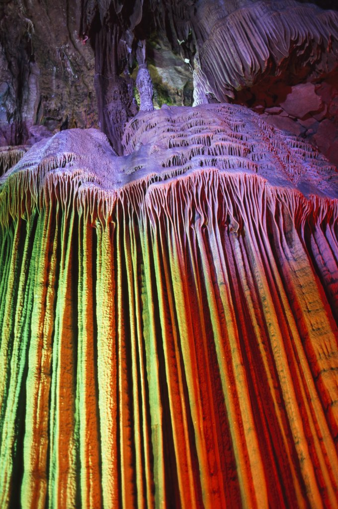 Reed Flute caves, Guilin, China. : Stock Photo