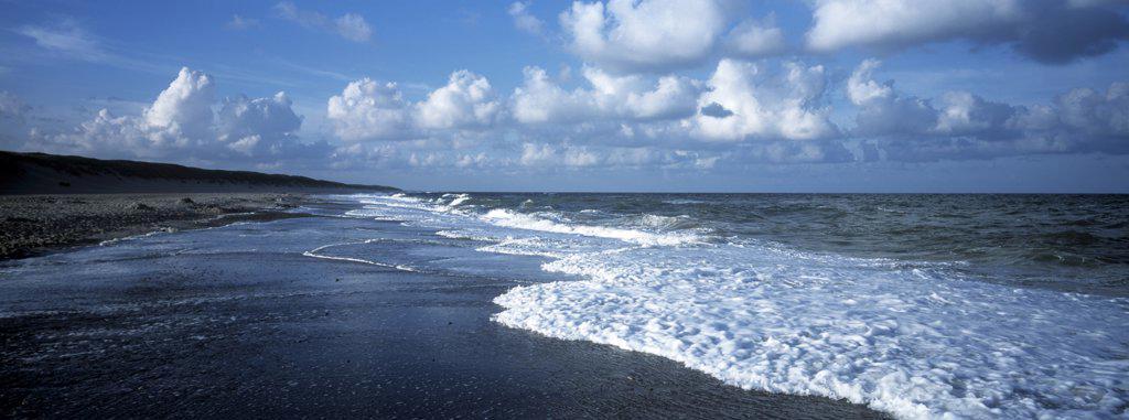 Scenic coastal view, Homsland Klit Island, Denmark. : Stock Photo
