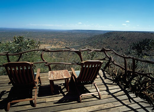 Stock Photo: 1783-16703 View of the wilderness from Loisaba Lodge, Laikipia, Kenya.