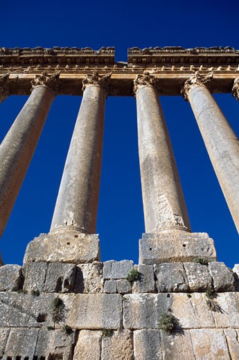Stock Photo: 1783-16893 Ruins of Temple of Jupiter, Baalbek, Bekka Valley, Lebanon
