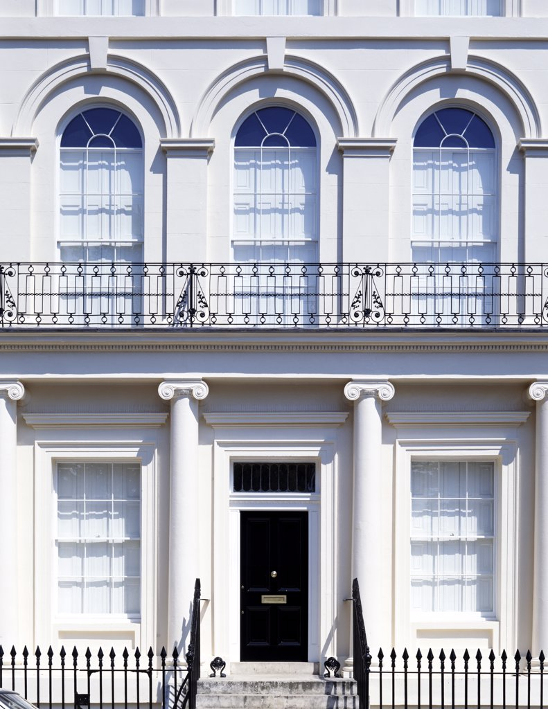 Stock Photo: 1783-17093 Regency style buildings around Regents Park, London