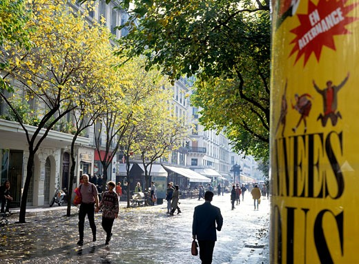 Stock Photo: 1783-1787 Shopping street, Paris, France