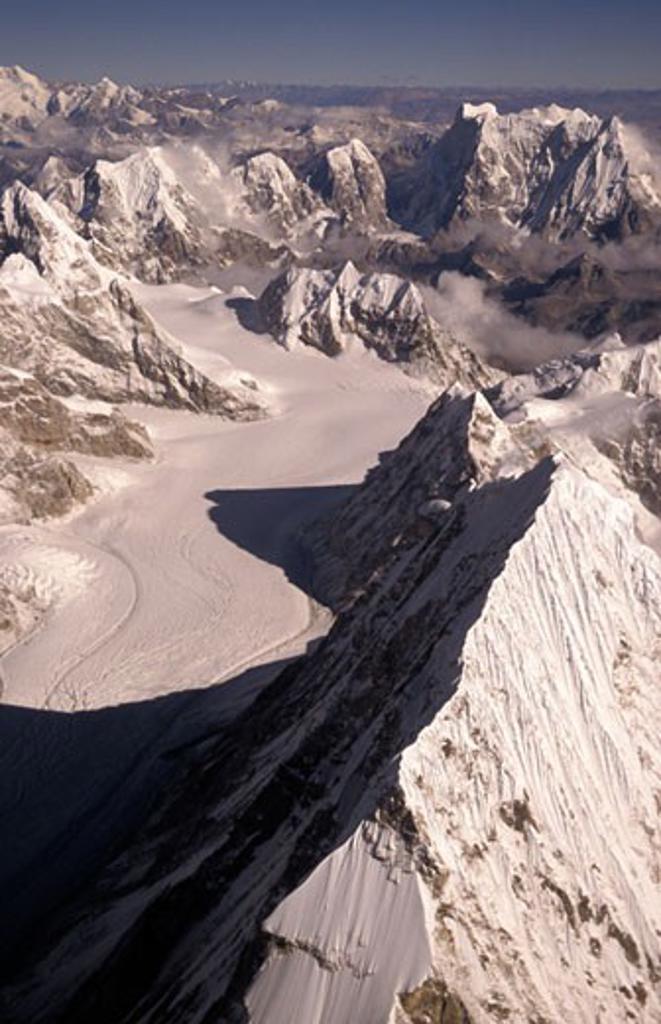 Mountains, aerial view, Himalayas, Nepal. : Stock Photo