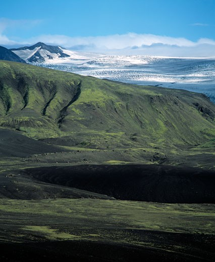Emstrur scenery and glacier, Iceland : Stock Photo