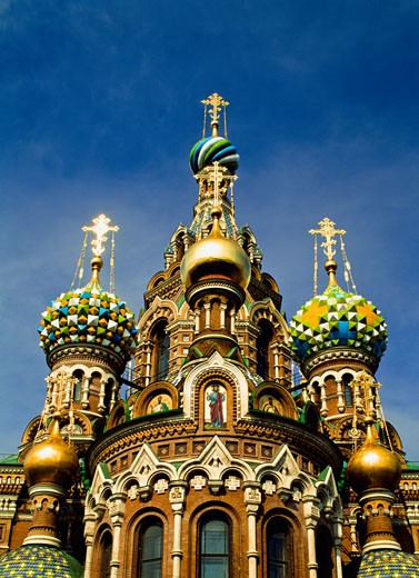 Stock Photo: 1783-19667 Ornate exterior of Church of Spilled Blood, St. Petersburg, Russia, St. Petersburg, Russia.