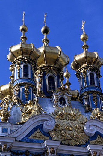 Ornate church exterior, Saint Petersburg, Russia. : Stock Photo