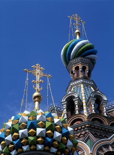 Church of Our Savior on Spilled Blood dome detail, St Petersburg, Russia. : Stock Photo