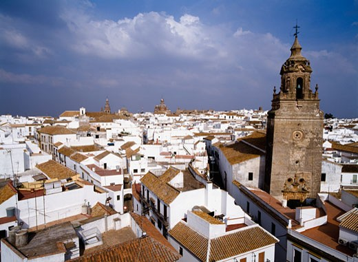 Stock Photo: 1783-19813 View across the rooftops of Carmona. , Andalucia, Spain.