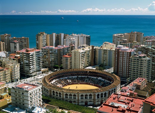 Elevated view of Malaga, Andalucia, Spain. : Stock Photo