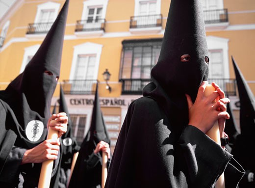 Semana Santa or Holy Week in Seville, Seville, Spain : Stock Photo
