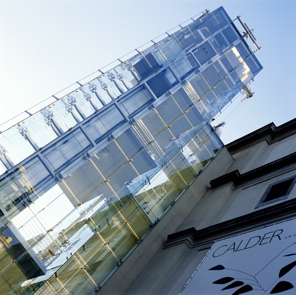 Stock Photo: 1783-20668 Centro de Arte Reina Sofia, Low Angle View, Madrid, Spain