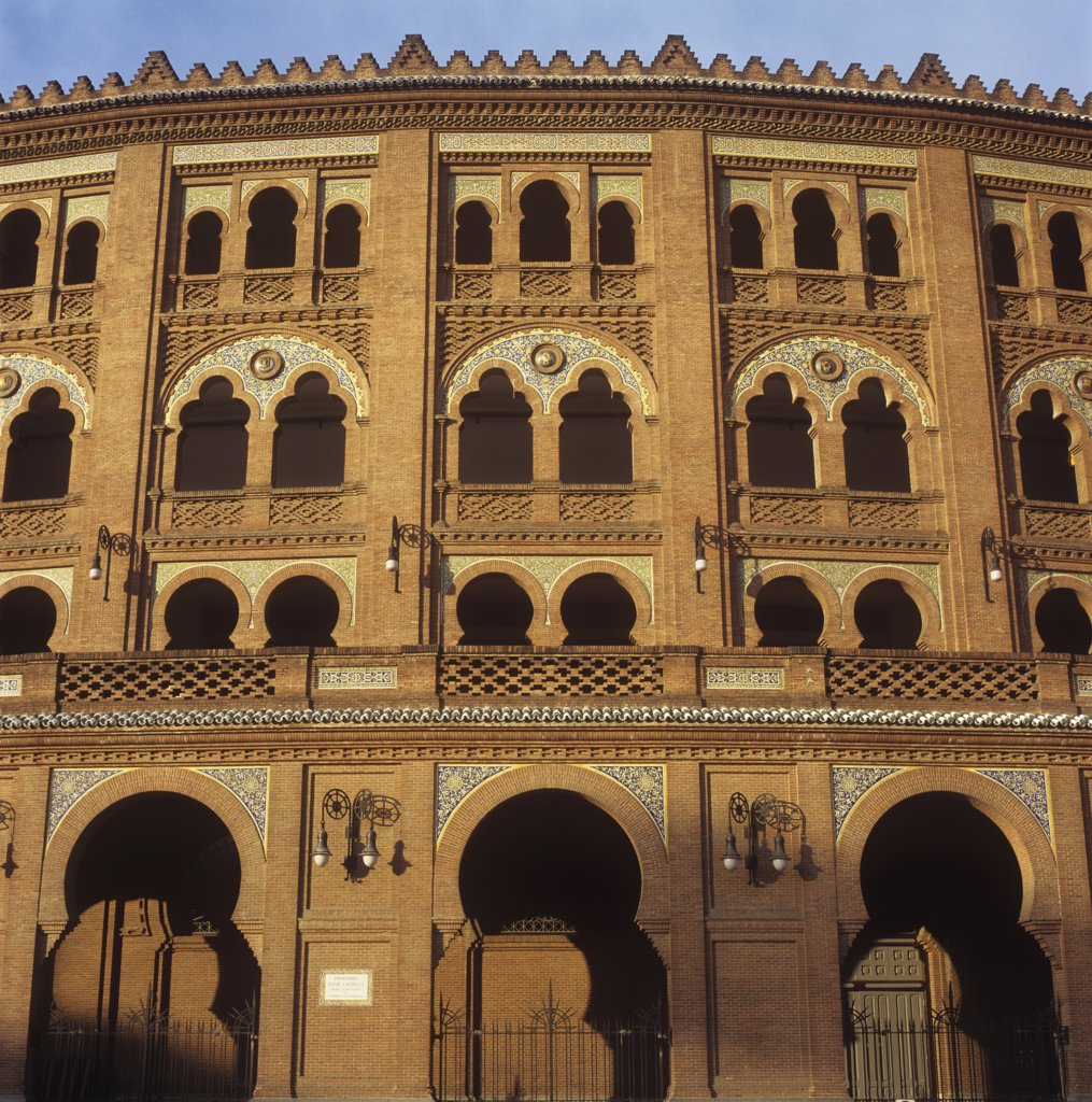 Plaza de Toros de Las Ventas bull ring arena, Madrid, Spain. : Stock Photo