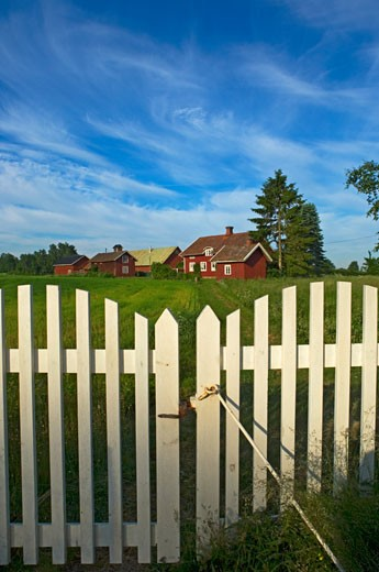 Stock Photo: 1783-21650 Colourful Swedish farmhouse. , Sweden.