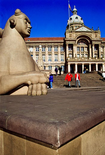 Sphinx at Victoria Square, Birmingham, England, UK. : Stock Photo