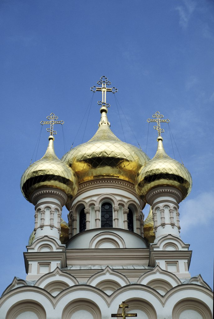 Stock Photo: 1783-23582 Aleskandr Nevsky Cathedral, close up, Sadovaya, Yalta, Crimea, Ukraine