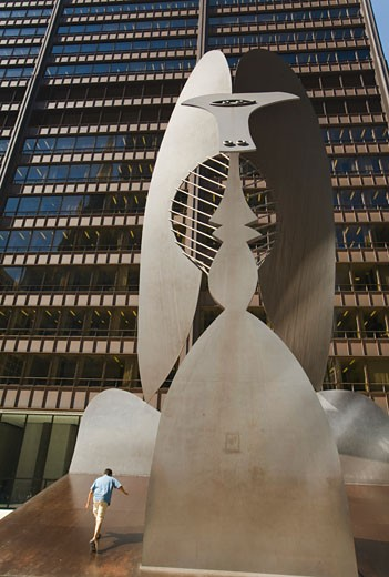Stock Photo: 1783-24077 Sculpture in front of Daley Plaza, Chicago, Illinois, USA.