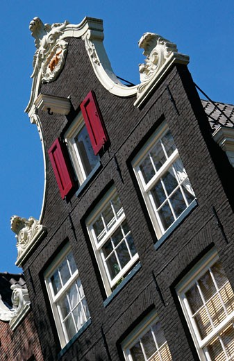 Stock Photo: 1783-2654 Gabled canal house, Amsterdam, Holland, The Netherlands, Europe
