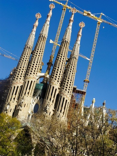 The Sagrada Familia Church by Antoni GaudiBarcelona, Catalonia, Spain. The Sagrada Familia Church by Antoni Gaudi : Stock Photo