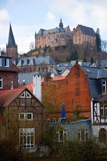 Stock Photo: 1783-31727 View of Marburg, GermanyMarburg, Germany. View of Marburg, Germany