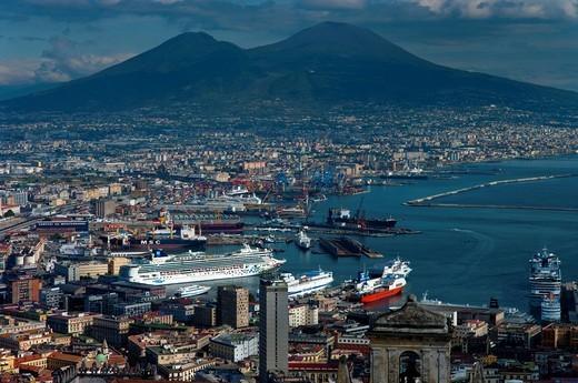 Naples cityscape and VesuviusNaples, Vesuvius, Italy. Naples cityscape and Vesuvius : Stock Photo