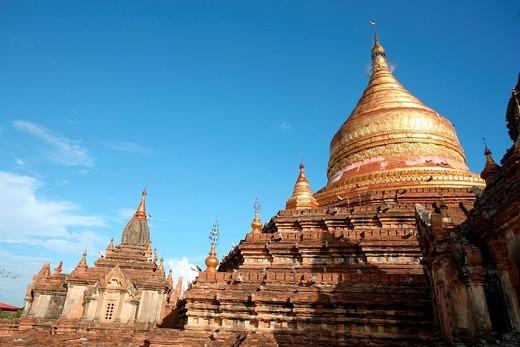 Stock Photo: 1783-32176 Buddhist PagodasBagan, Burma. Buddhist Pagodas