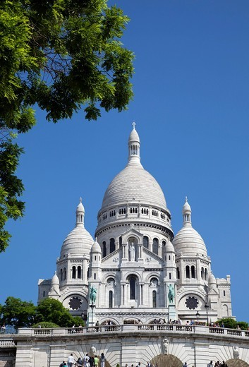 Sacre Coeur churchMontmarte, Paris, France, Europe. Sacre Coeur church : Stock Photo