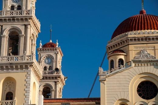 Agias Minas cathedral detail Heraklion, Crete, Greece. Agias Minas cathedral detail : Stock Photo