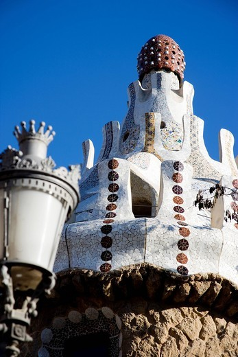 Detail from Park GuellBarcelona, Catalonia, Spain. Detail from Park Guell : Stock Photo