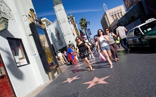 Walking In Hollywood, Los Angeles, California, United States. Walking In Hollywood : Stock Photo