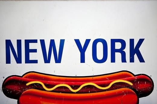 New York Hot Dog, Manhattan, New York, USA. New York Hot Dog : Stock Photo