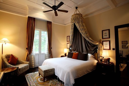 Bedroom At The Hotel Metropole, Hanoi, Vietnam. Bedroom At The Hotel Metropole : Stock Photo