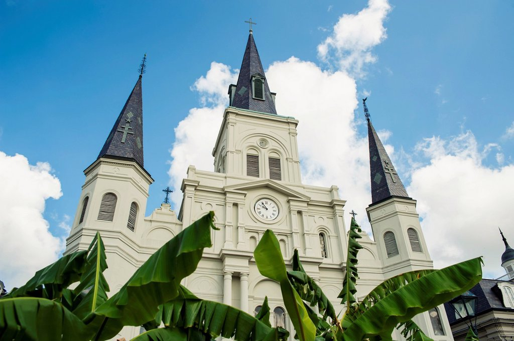 Usa, Louisiana, View Of Saint Louis Cathedral; New Orleans : Stock Photo