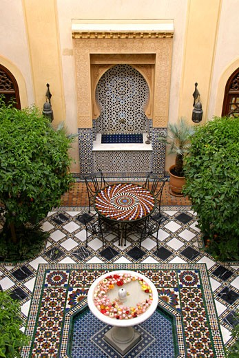 Stock Photo: 1783-4983 Riad Al Moussika,Marrakesh,Morocco, The former residence of the Pasha of Marrakesh