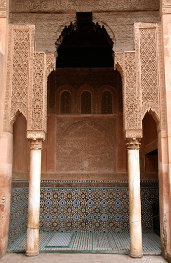 Stock Photo: 1783-5002 Carvings at Saadian Tombs, Marrakech (Marrakesh),Morocco