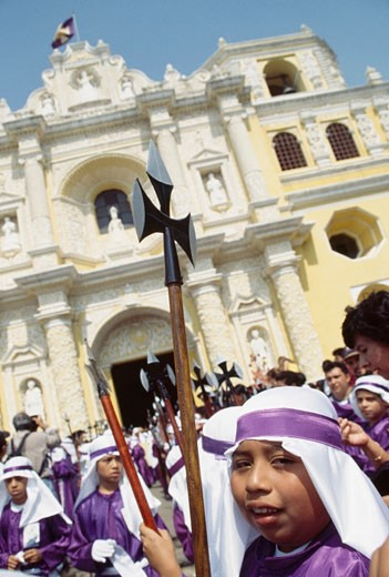 Stock Photo: 1783-6668 Semana Santa ,  Antigua, Guatemala