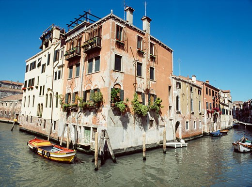 Stock Photo: 1783-7015 Back Canal in Venice,  Italy