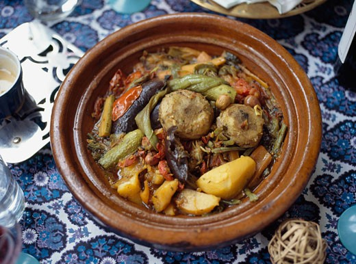 Vegetable Tajeen,  Morocco  : Stock Photo