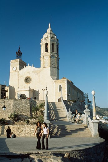 Cathedral,  Sitges, Catalonia, Spain : Stock Photo