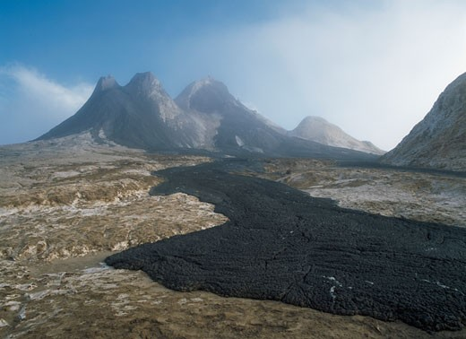 Stock Photo: 1783-8096 Fresh lava flows coming from lava cones,  Ol Donyo Lengai, Tanzania