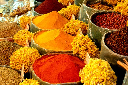 Herbs and spices,  Istanbul, Turkey : Stock Photo